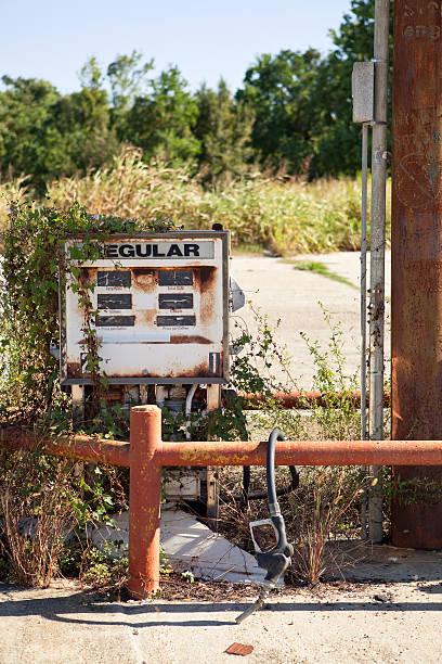 Decayed Gasoline Dispenser stock photo