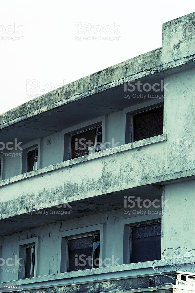 decaying art deco building royalty-free stock photo