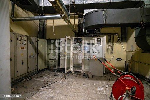 Heating Boiler, Old, Dark, Rusty, Basement, Underground, Pipeline, Degraded
