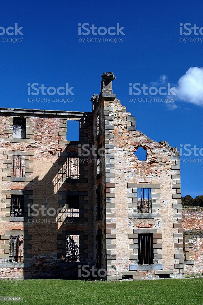 Decaying prison royalty-free stock photo