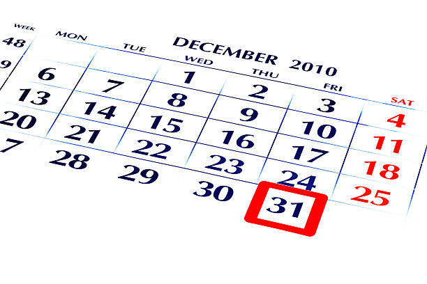 31 December 2010 - Year End. stock photo