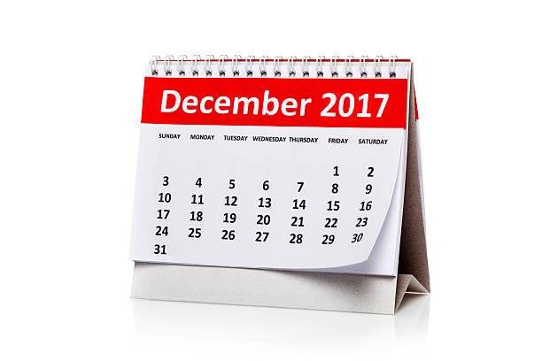 december  2017 calendar - dicembre foto e immagini stock