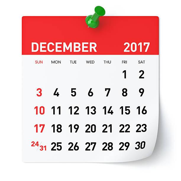 dicembre 2017 - calendario - dicembre foto e immagini stock