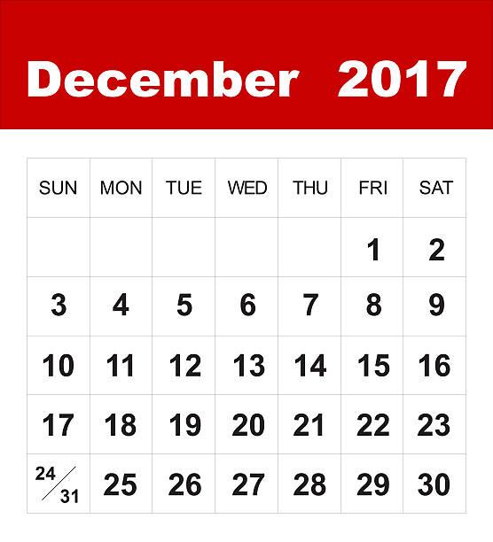dicembre 2017 calendari - dicembre foto e immagini stock