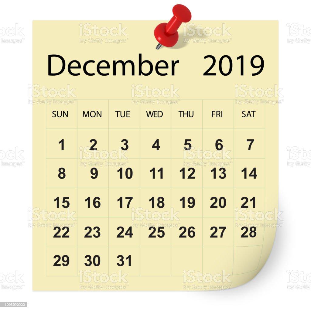 December 2019 Calendar Cut December 2019 Calendar Stock Photo   Download Image Now   iStock