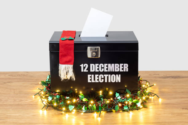 12 December 2019 Election in UK stock photo