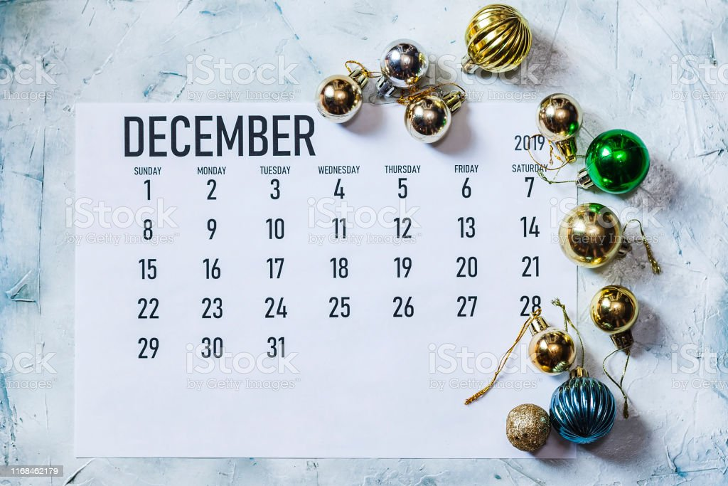 December 2019 maand kalender - Royalty-free 2019 Stockfoto