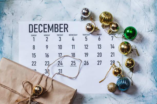 december 2019 maand kalender - december stockfoto's en -beelden