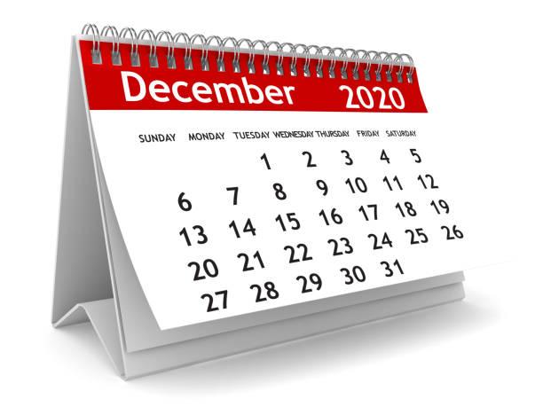 december 2020 kalender - december stockfoto's en -beelden