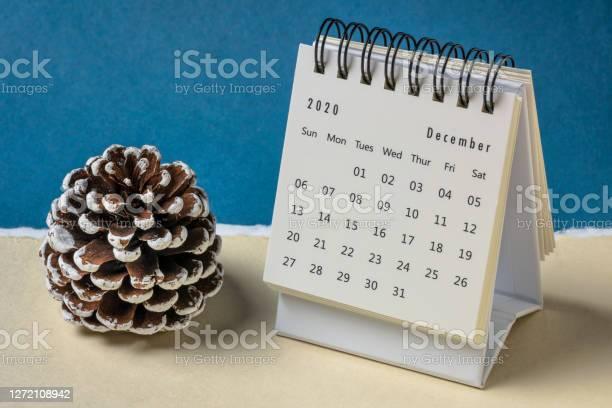 Photo of December 2020 - spiral desktop calendar