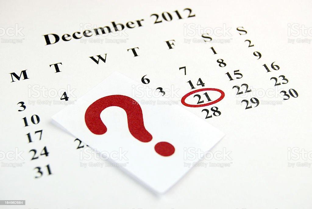 December 21 stock photo