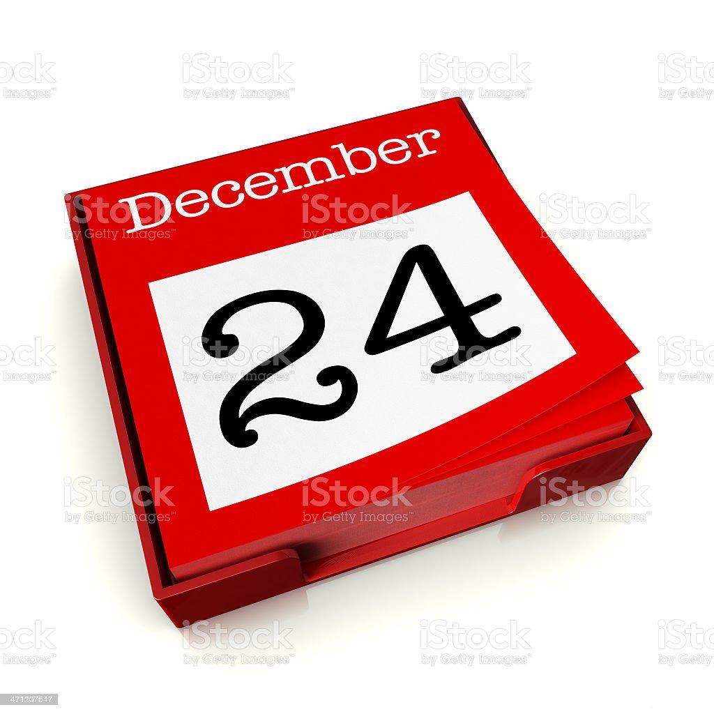 December 24th stock photo