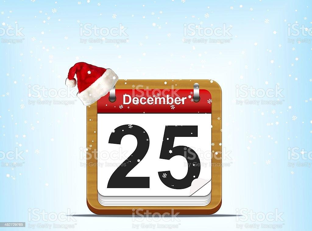 December 25. royalty-free stock photo