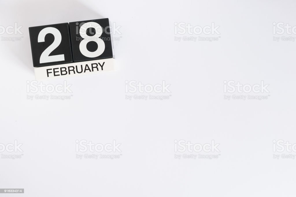 december 28th day 28 of month calendar on white background new year at