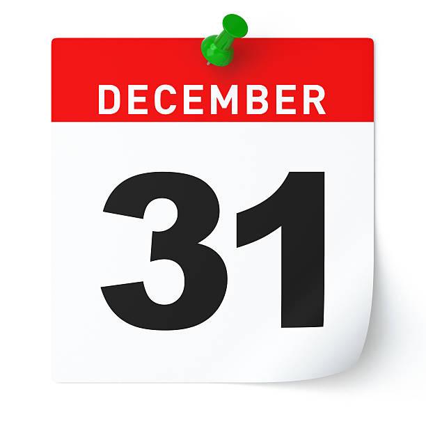 il 31 dicembre il calendario - dicembre foto e immagini stock