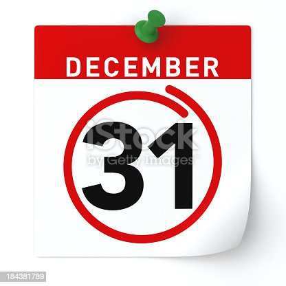 istock December 31 circled in red on calendar 184381789