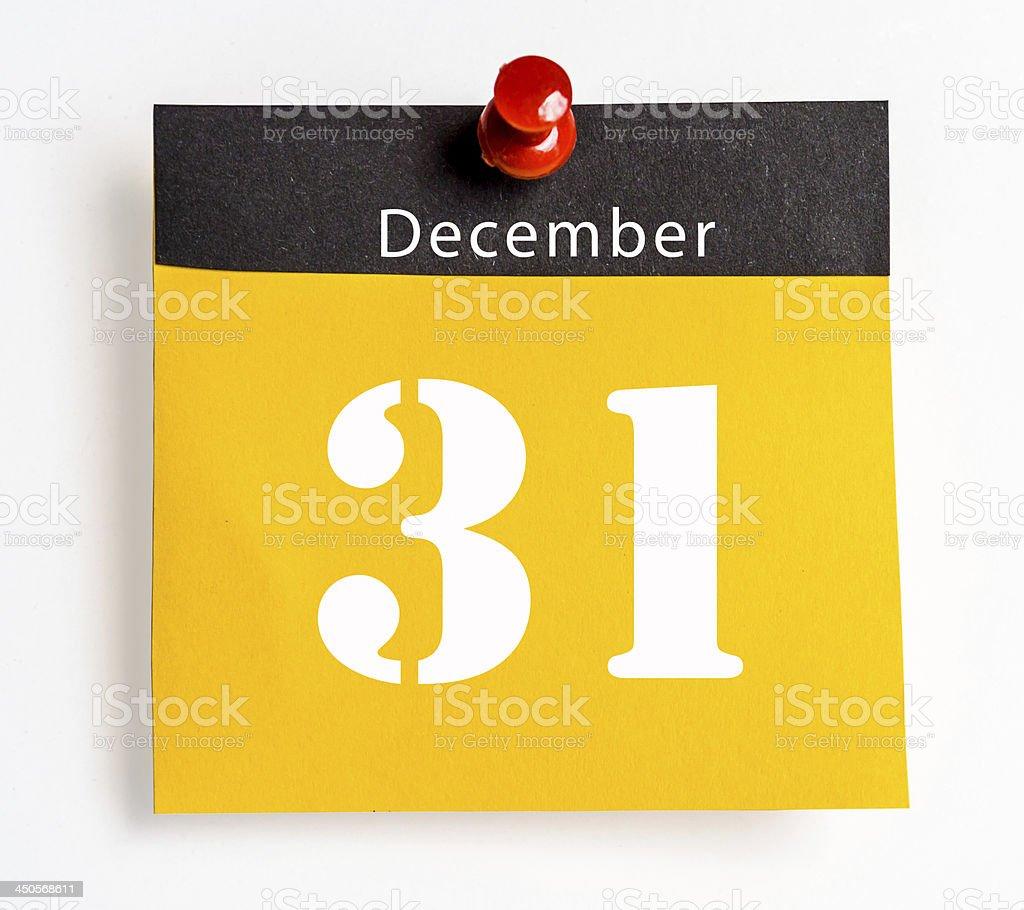 december 31 royalty-free stock photo