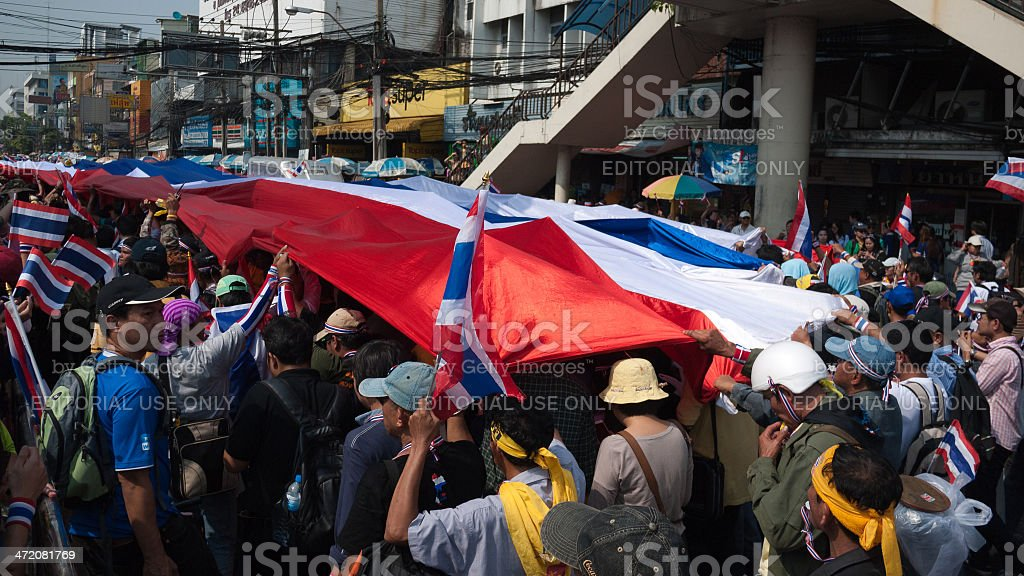 December 9 Thai Anti-government protesters 6 stock photo