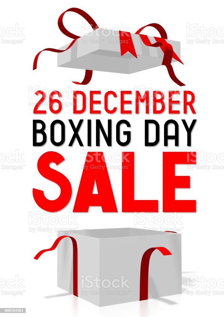 26 December - Boxing Day sale stock photo