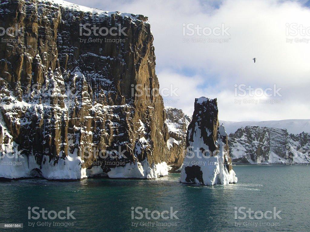 Deception Island Antarctica stock photo