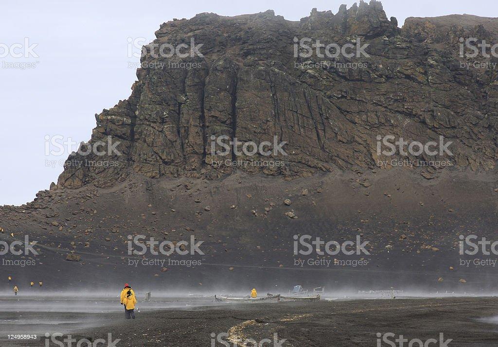 Deception Island Tourist Visit stock photo