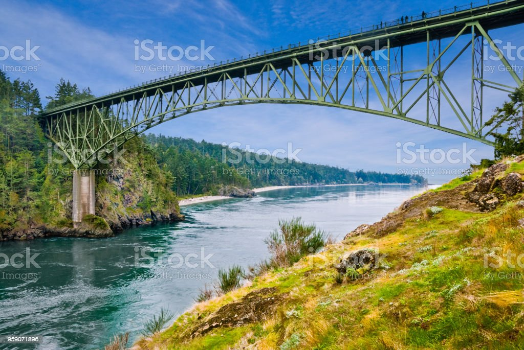 Deception Pass Bridge stock photo