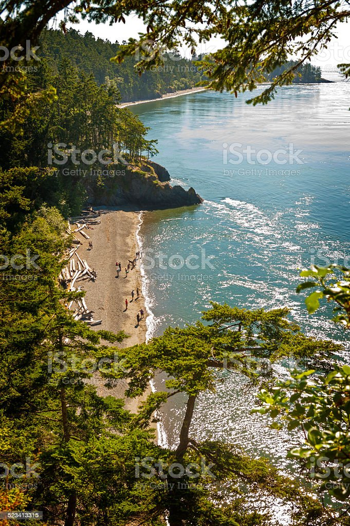 A lovely beach, called North Beach, attracts hundreds of visitors...