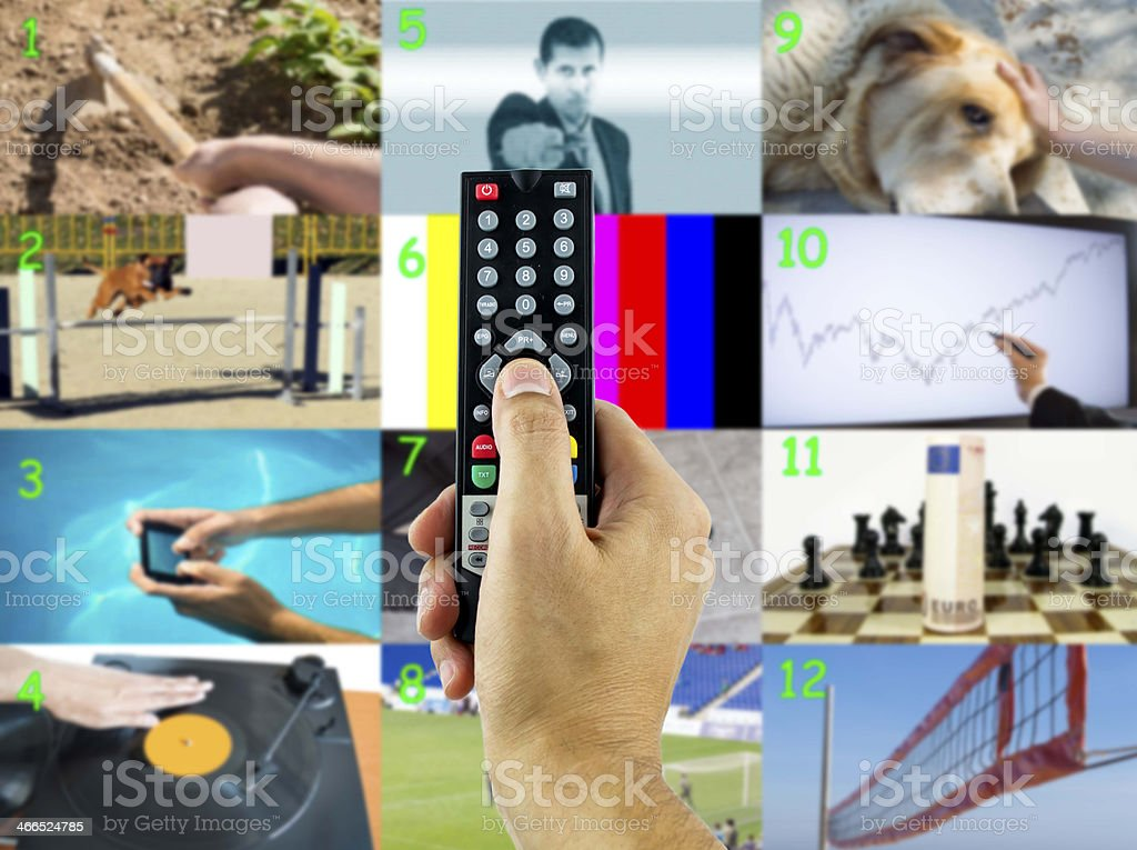 decide a channel stock photo