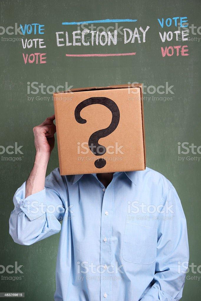 Deciding My Vote royalty-free stock photo