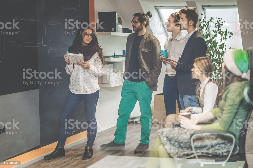 Deciding the architecture stock photo