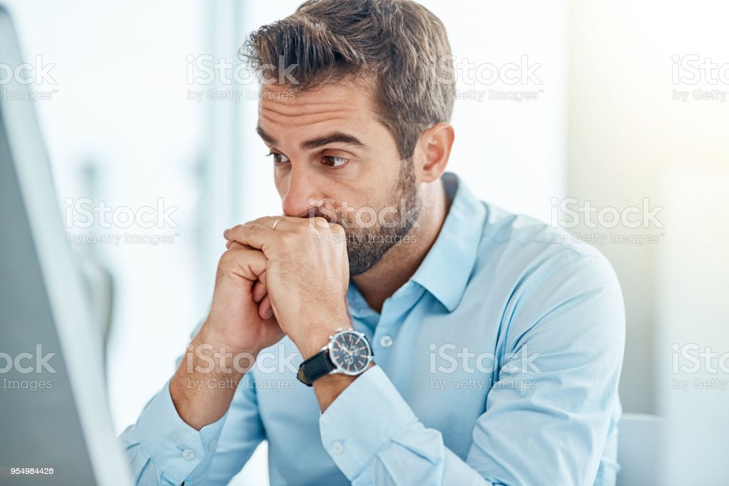 Deciding whether to take the risk or not stock photo