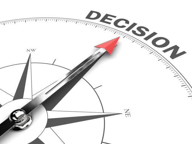 Entscheidungskompass Geschäftsstrategie Wahl Richtung – Foto