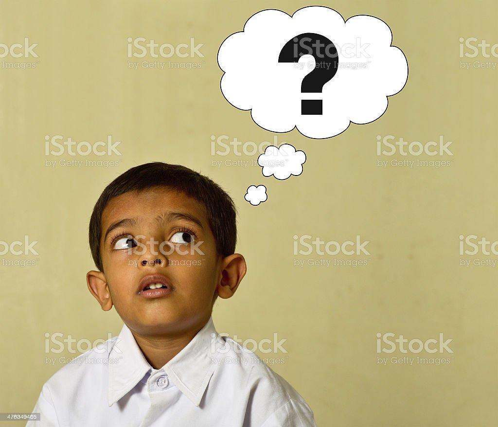 Decision making kid royalty-free stock photo