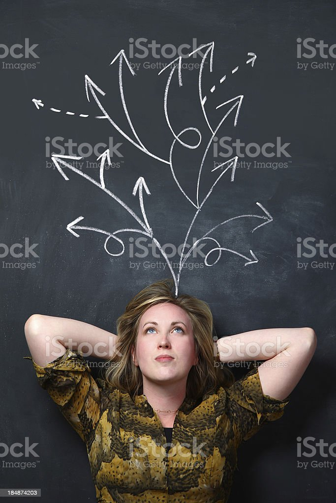 Decision making royalty-free stock photo