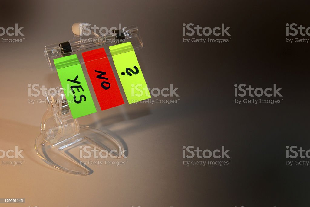 Decision's color stickers royalty-free stock photo