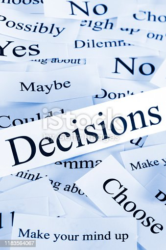 A conceptual look at decision making.