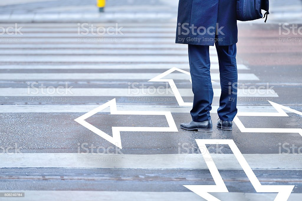 Decisions. You have to choose. stock photo
