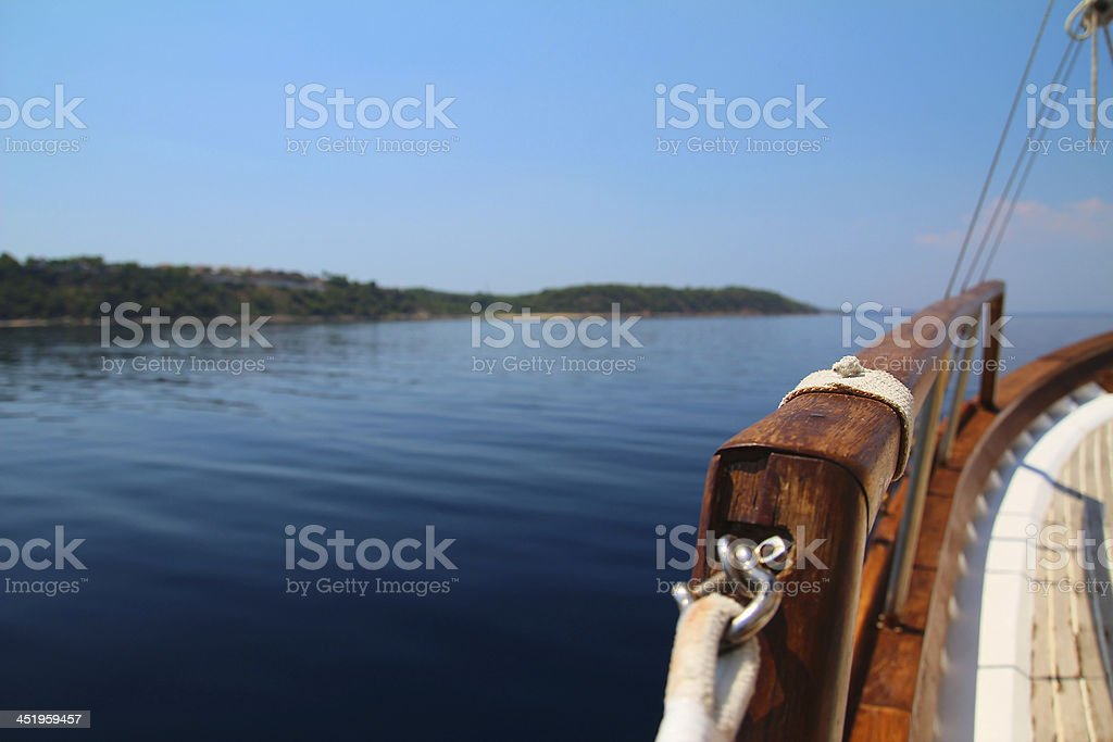 Deck Boat royalty-free stock photo
