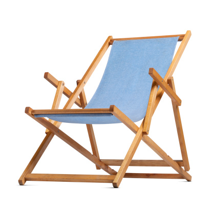 Deck chair. Object with clipping path.Similar photographs from my portfolio: