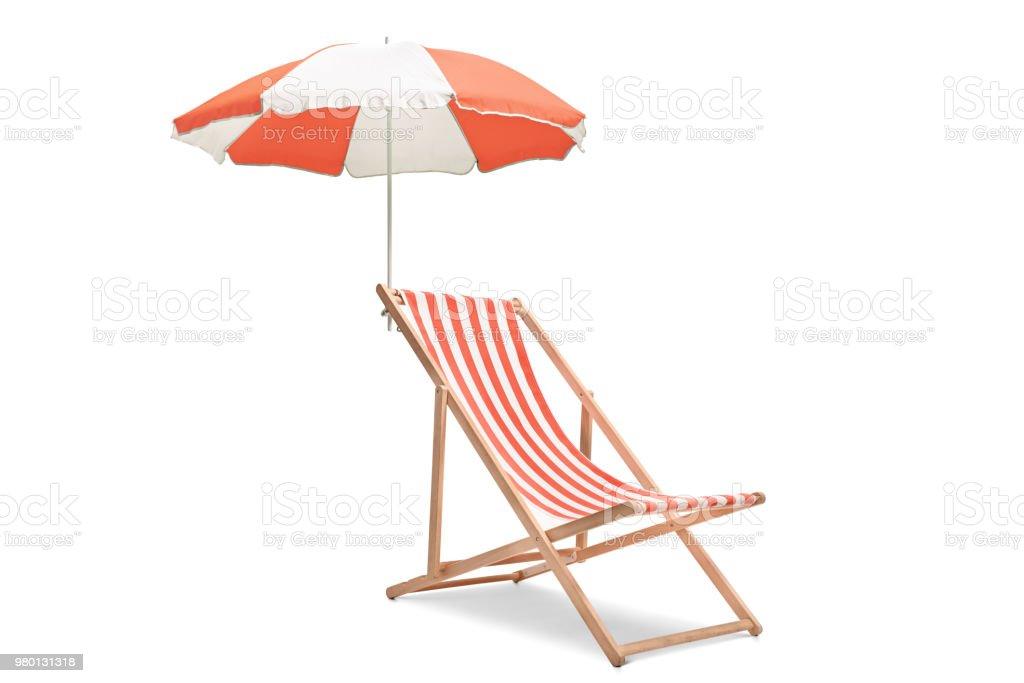 Droit Photo Banque Avec Chaise Longue D De Libre Parapluie Un CBWrdxeo