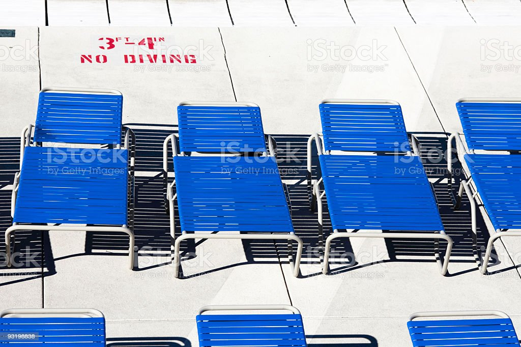 Deck Chairs and Shadows stock photo