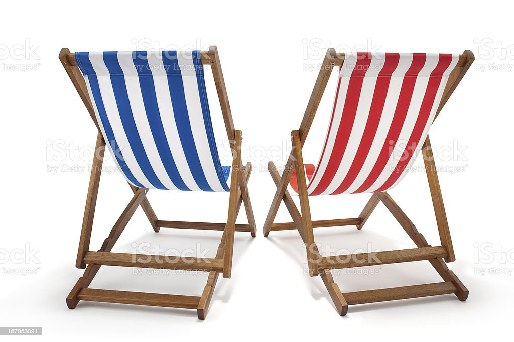 Deck Chairs stock photo