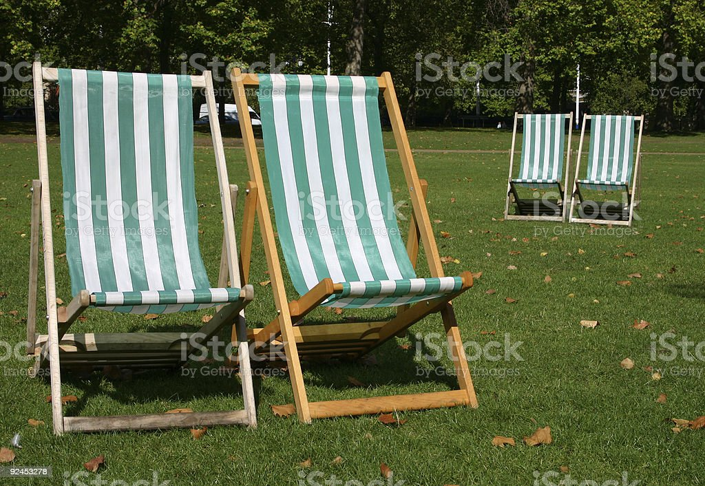 Deck Chairs royalty-free stock photo