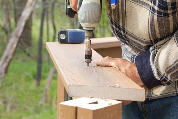 Construcción de la terraza - foto de stock