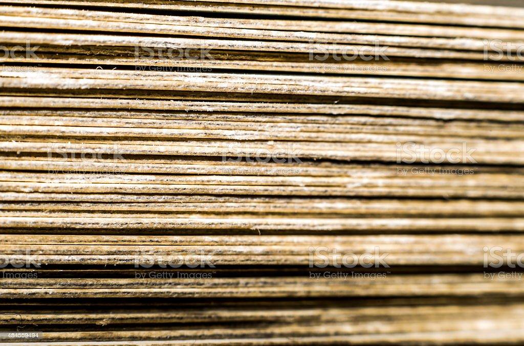 Deck of cards, macro. stock photo