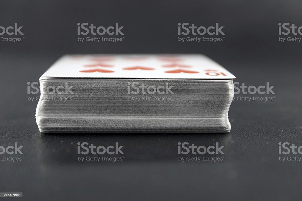 Terraza de tarjetas foto de stock libre de derechos