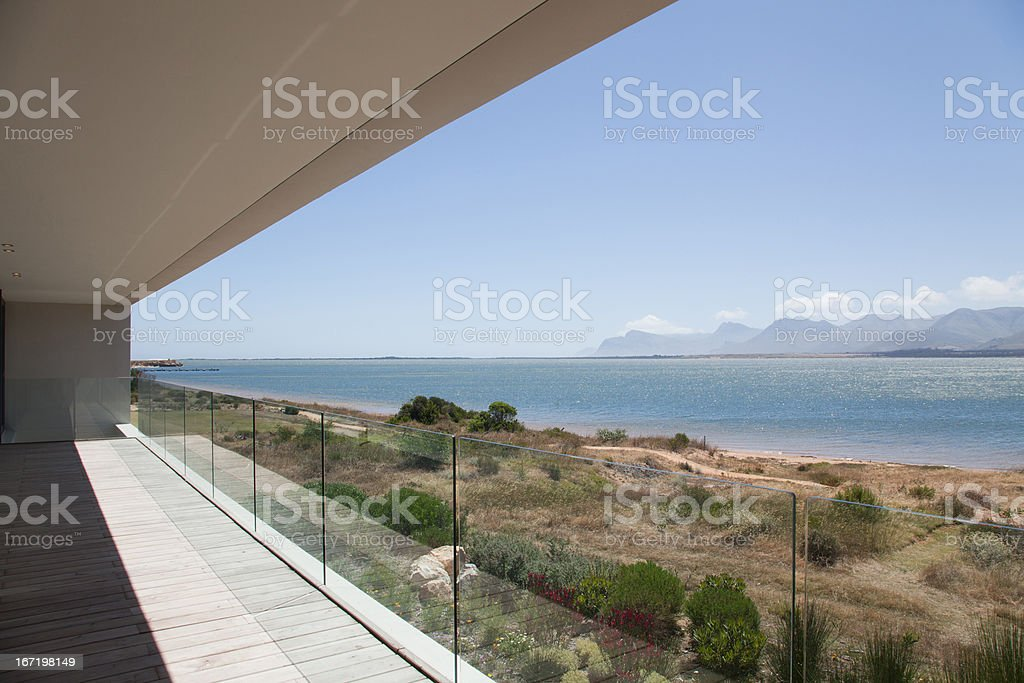 Deck of modern house royalty-free stock photo