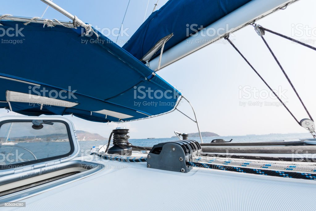 Deck of the vessel stock photo
