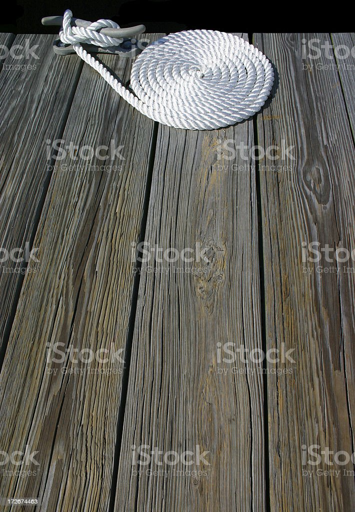Deck Rope stock photo