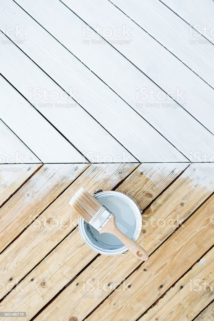 Deck stain before and After – Foto